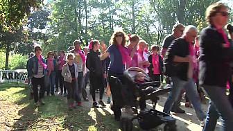Plus de 1 000 participants à la Marche/Course Rose @LesAteliersDeLEmbellie à Obernai